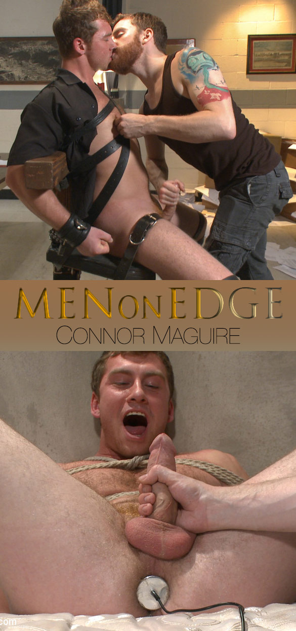 MenOnEdge: Connor Maguire gets edged and butt-plugged