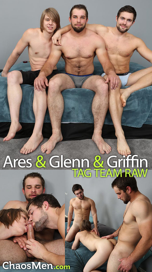ChaosmMen: Ares gets fucked raw by Glenn and Griffin