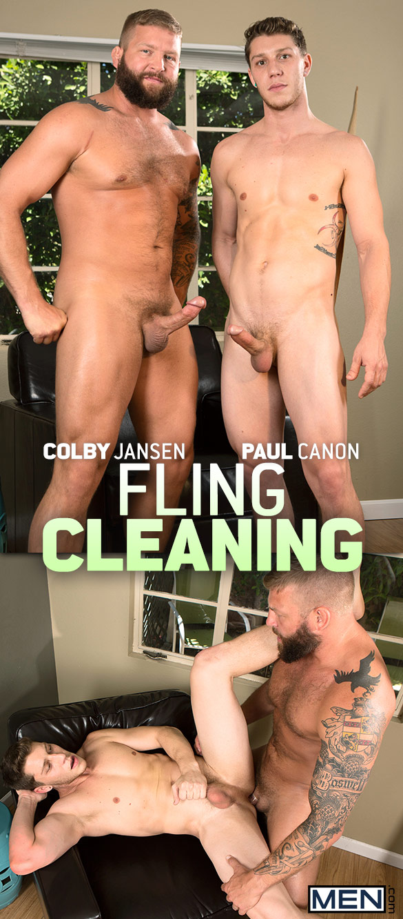 "Men.com: Paul Canon bottoms for Colby Jansen in ""Fling Cleaning"""