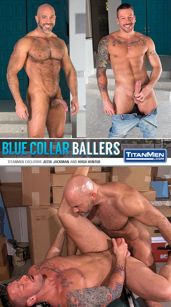 "TitanMen: Jesse Jackman fucks Hugh Hunter in ""Blue Collar Ballers"""