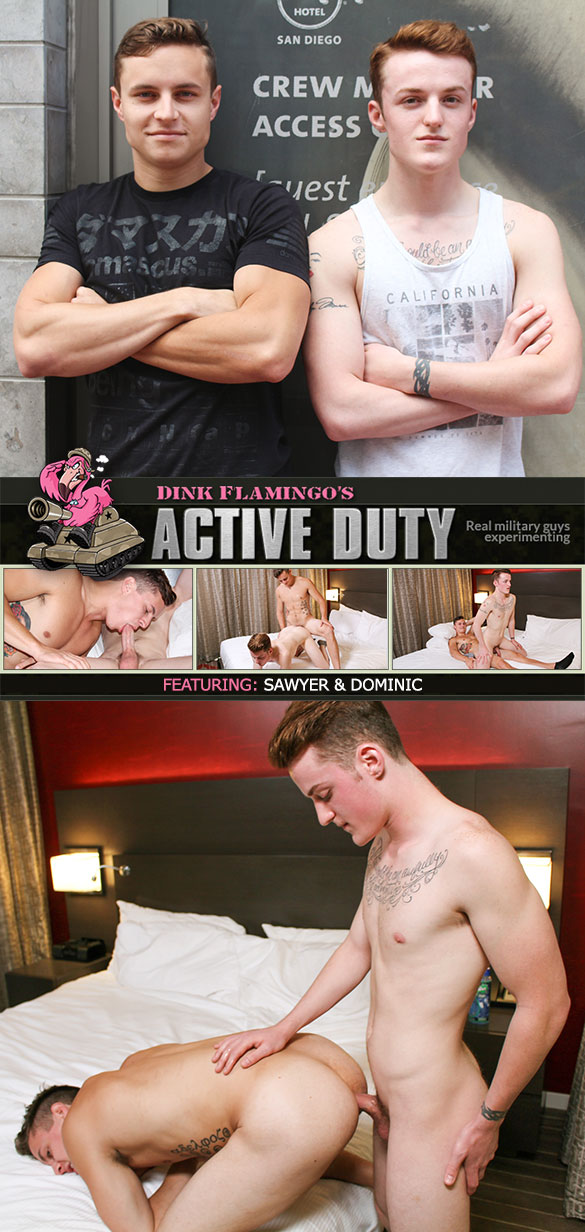 ActiveDuty: Sawyer and Dominic flip fuck raw