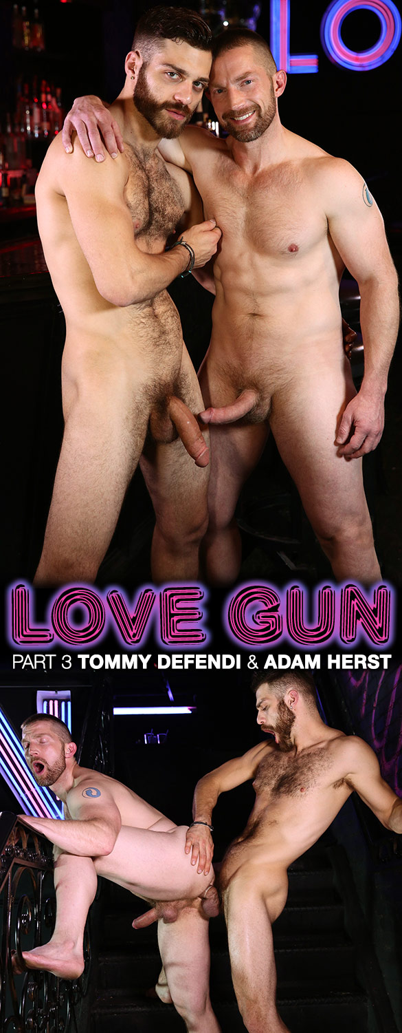 "Men.com: Tommy Defendi and Adam Herst flip fuck in ""Love Gun, Part 3"""