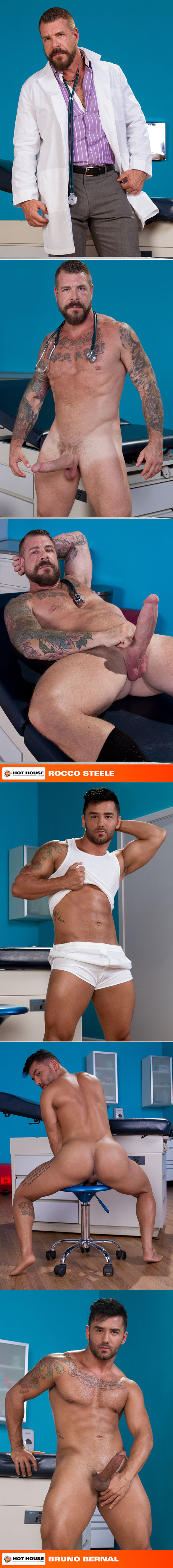 "HotHouse: Bruno Bernal rides Rocco Steele's big cock in ""Deep Examination"""