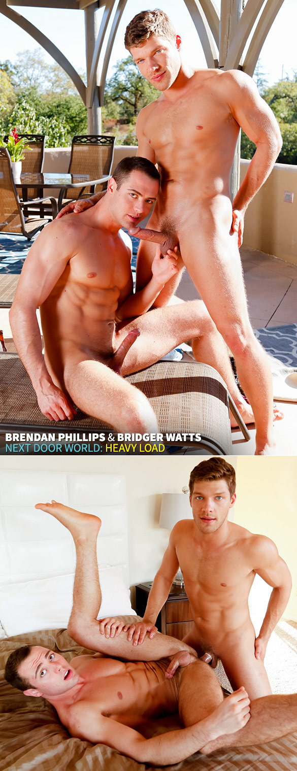 "Next Door World: Brendan Phillips bottoms for Bridger Watts in ""Heavy Load"""