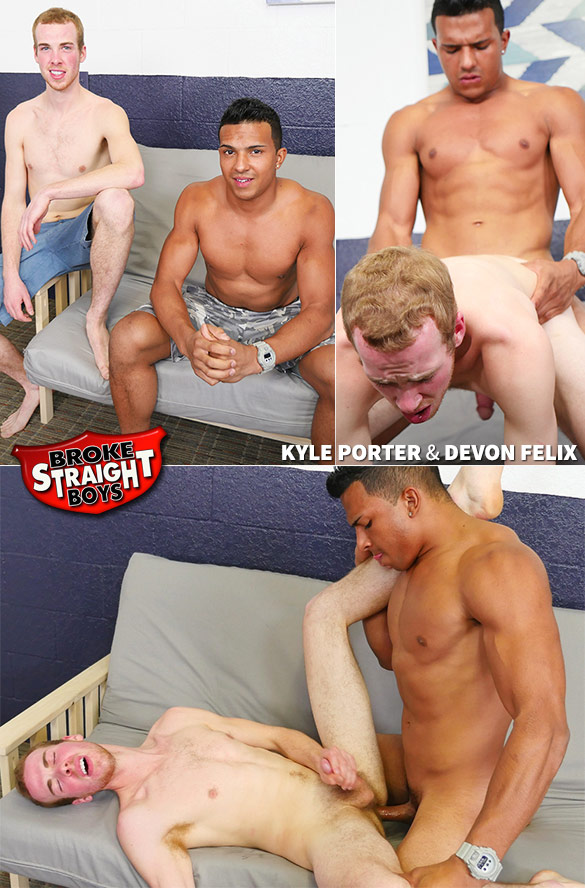 Broke Straight Boys: Devon Felix barebacks Kyle Porter