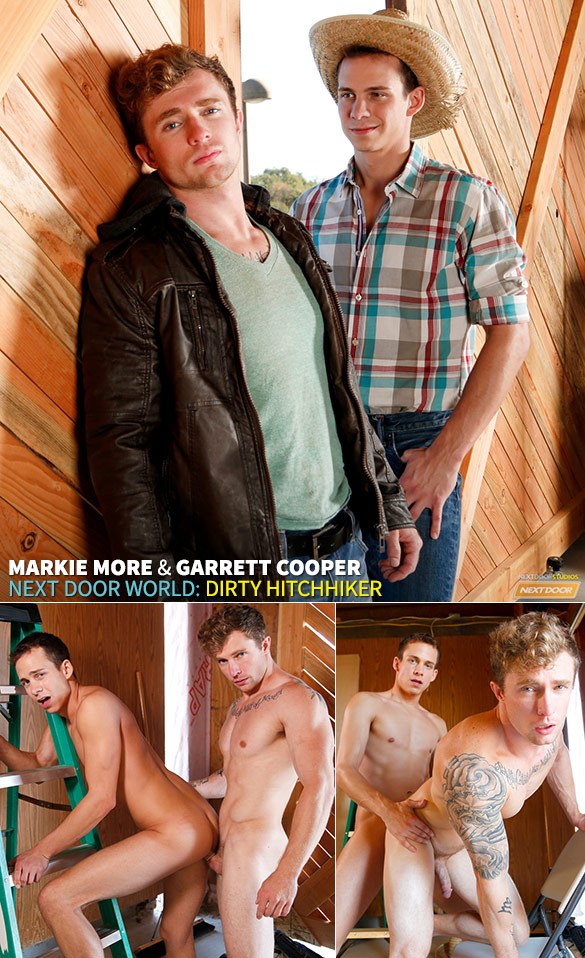 "Next Door World: Markie More and Garrett Cooper flip fuck in ""Dirty Hitchhiker"""