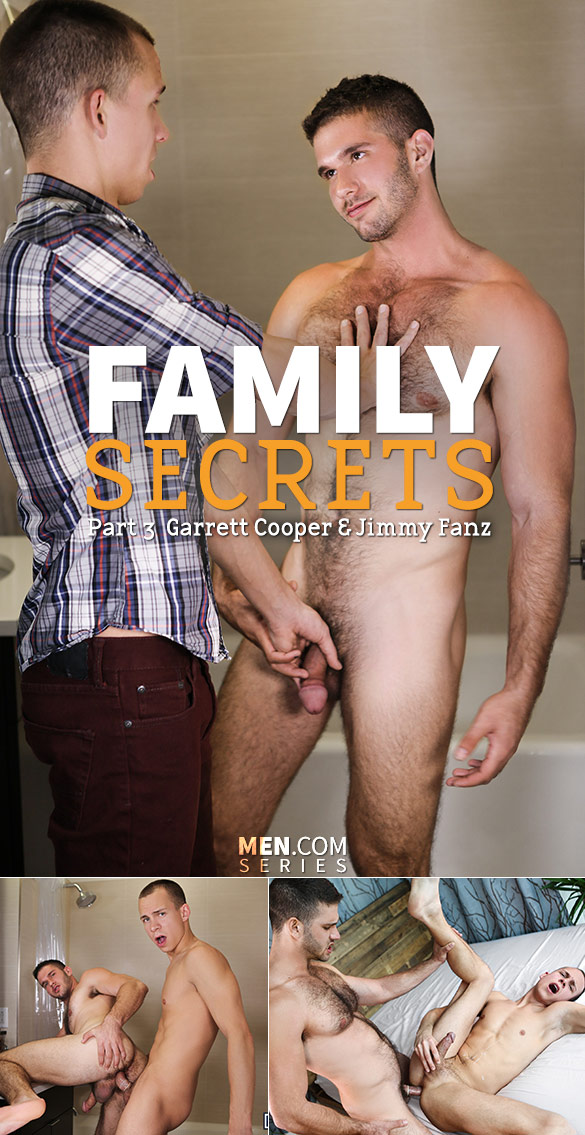 "Men.com: Jimmy Fanz and Garrett Cooper fuck each other in ""Family Secrets, Part 3"""