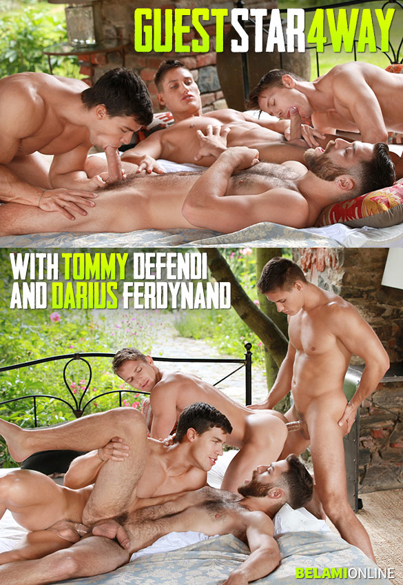 "BelAmi: Tommy Defendi and Darius Ferdynand get fucked by Kris Evans and Vadim Farrell in ""Guest Star 4 Way"""