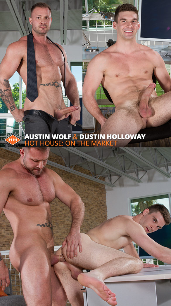 "HotHouse: Austin Wolf fucks Dustin Holloway in ""On the Market"""
