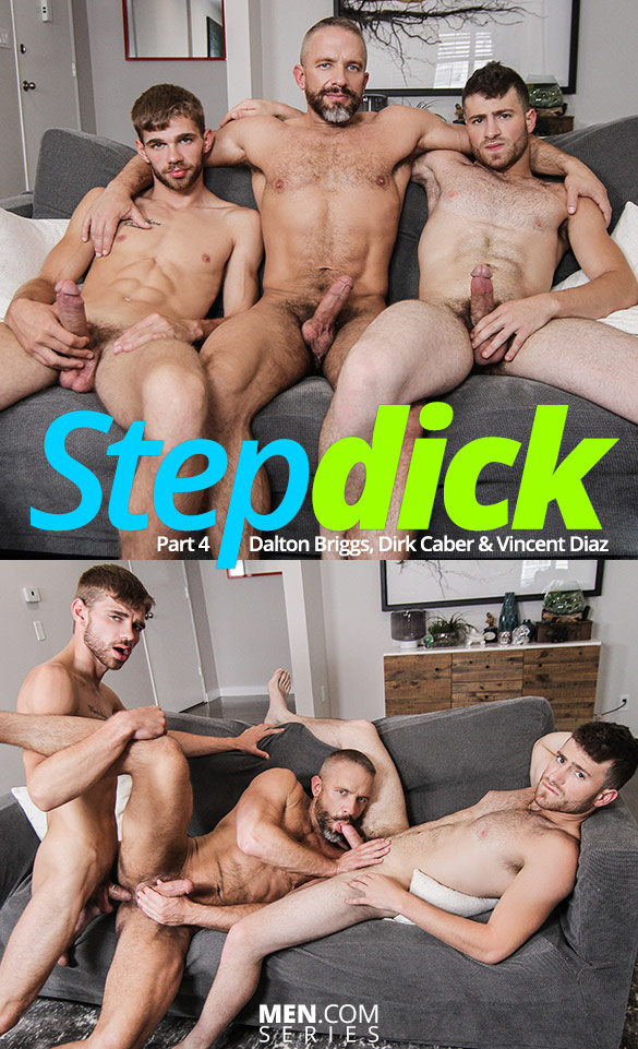 "Men.com: Dalton Briggs, Dirk Caber and Vincent Diaz in ""Stepdick, Part 4"""