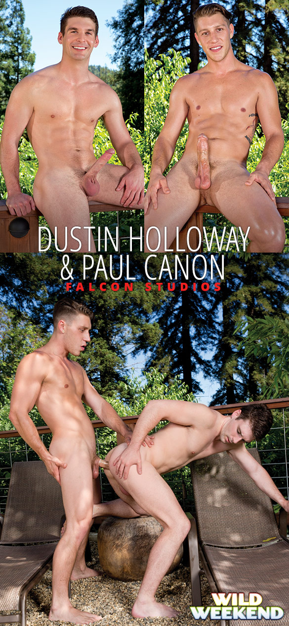 "Falcon Studios: Paul Canon fucks Dustin Holloway in ""Wild Weekend - Part 1"""
