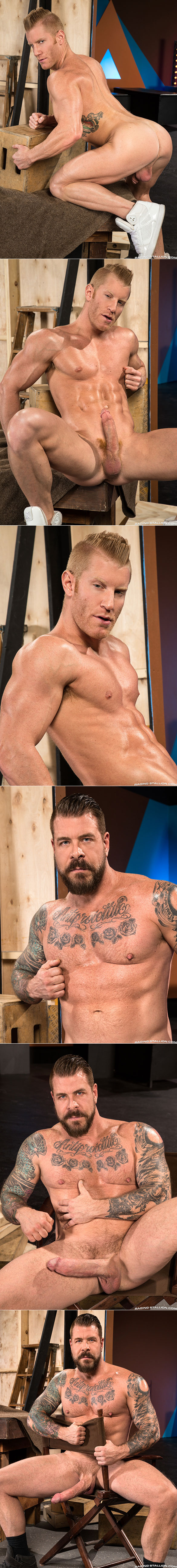 "Raging Stallion: Johnny V gets pounded by Rocco Steele and his massive cock in ""Backstage Pass 2"""