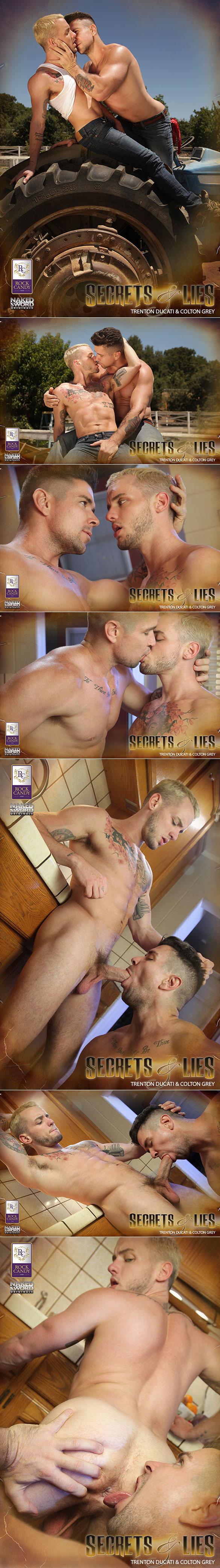 "NakedSword: Colton Grey gets pounded by Trenton Ducati in ""Secrets and Lies: Scene 3 – Family Pact"""