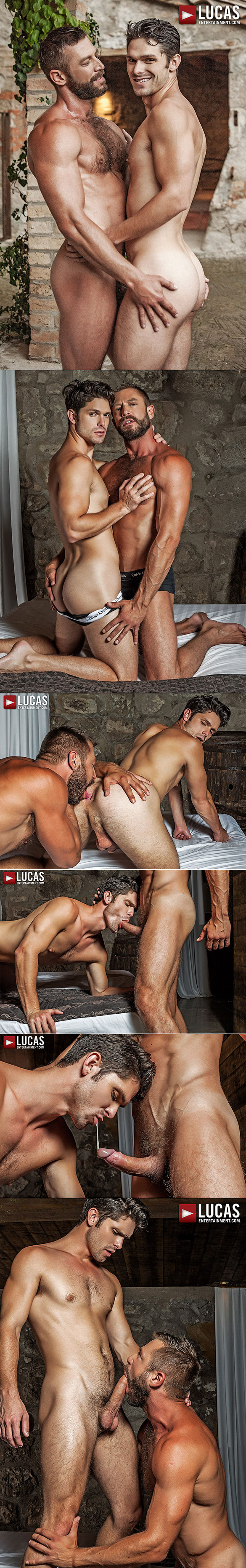 "Lucas Entertainment: Muscle daddy Bulrog tops Devin Franco in ""Bareback Auditions 05"""