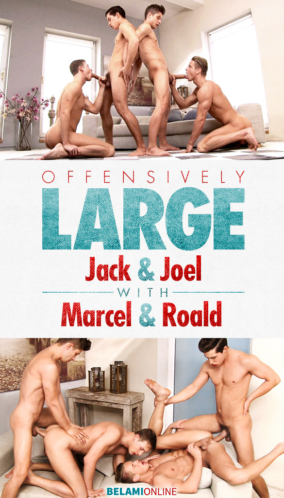 BelAmiOnline: Marcel Gassion and Roald Ekberg take Jack Harrer and Joel Birkin's large cocks bareback