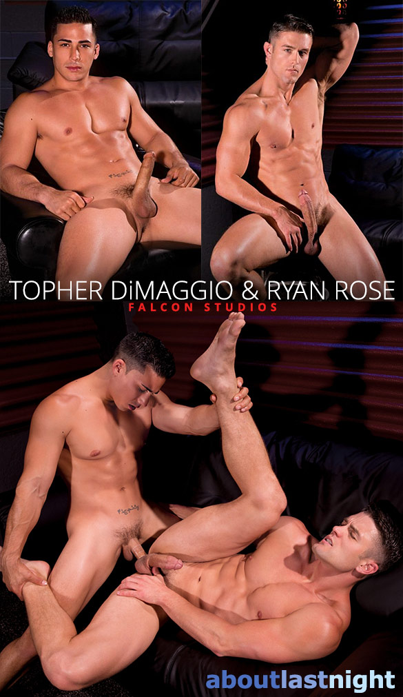 "Falcon Studios: Topher DiMaggio bangs Ryan Rose in ""About Last Night"""