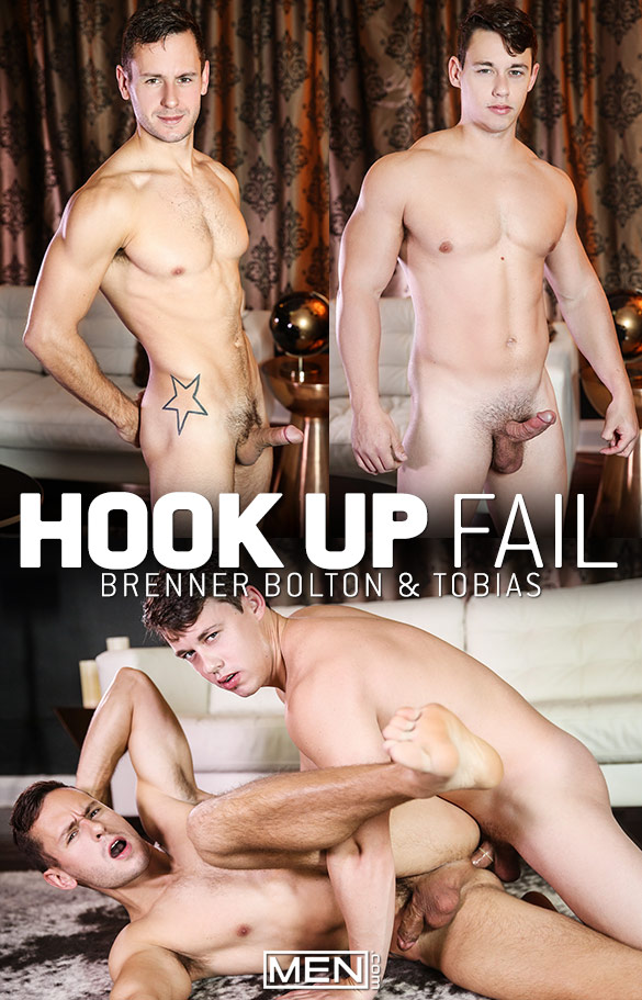 "Men.com: Tobias fucks Brenner Bolton in ""Hook Up Fail"""