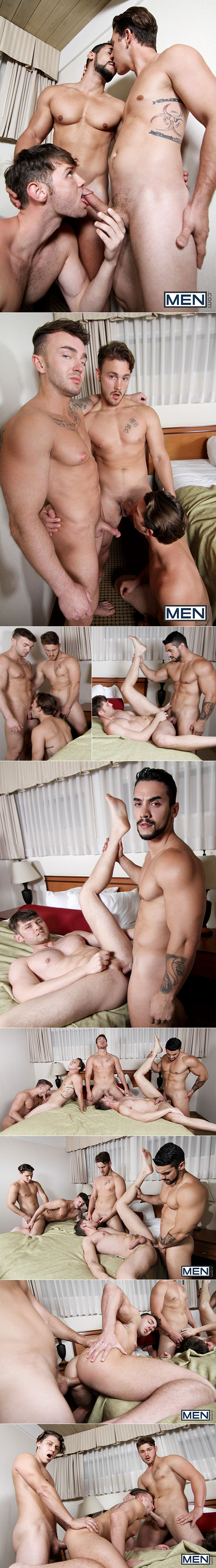 "Men.com: Paul Canon, Arad Winwin, Trevor Long, Jacob Peterson and Jake Ashford in ""On The Run, Part 3"""