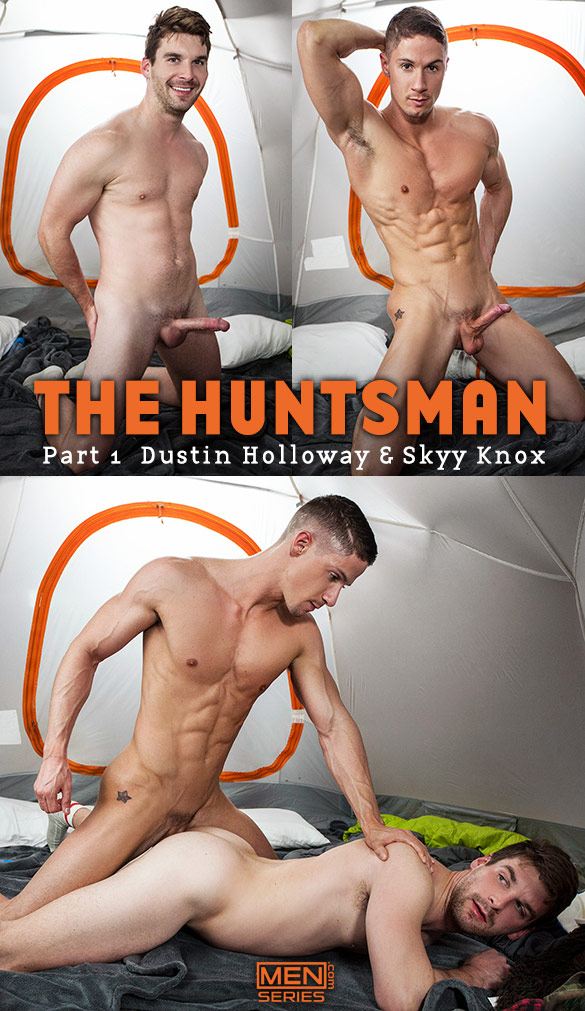 "Men.com: Skyy Knox fucks Dustin Holloway in ""The Huntsman, Part 1"""