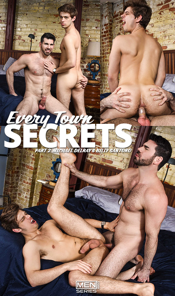 "Men.com: Michael DelRay rides Billy Santoro in ""Every Town Secrets, Part 2"""