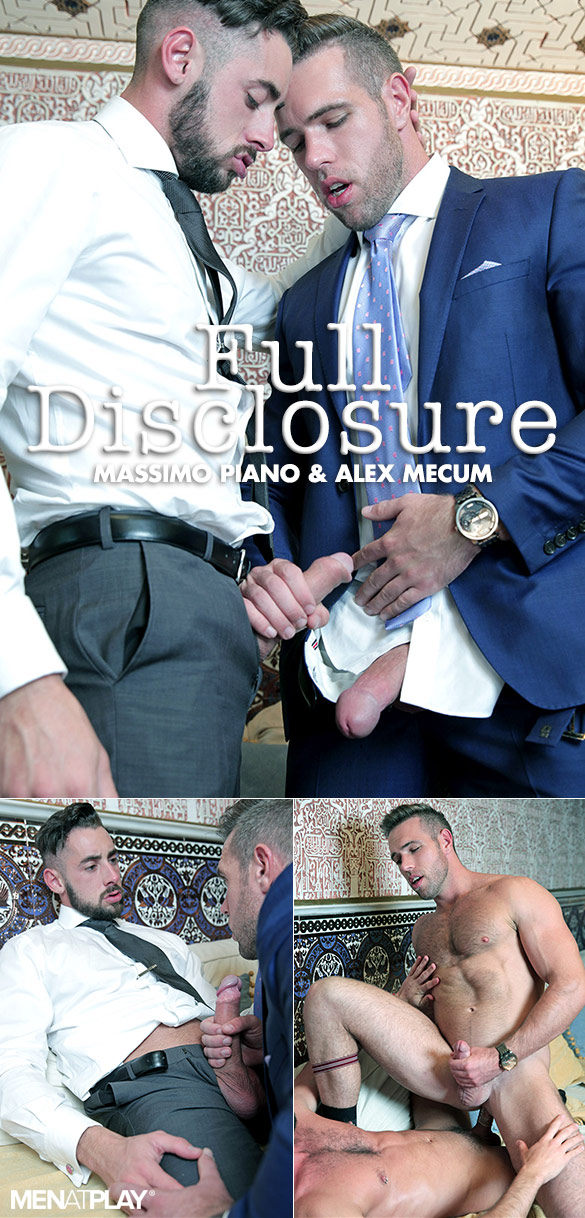"MenAtPlay: Massimo Piano and Alex Mecum flip fuck in ""Full Disclosure"""