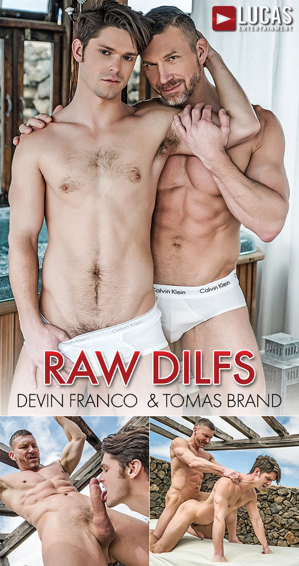 "Lucas Entertainment: Devin Franco bottoms for muscle daddy Tomas Brand in ""Raw DILFs"""