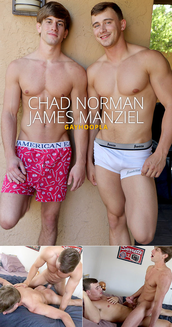 GayHoopla: Chad Norman cums twice taking James Manziel's cock
