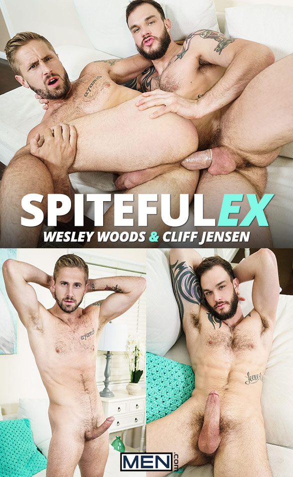 "Men.com: Cliff Jensen tops Wesley Woods in ""Spiteful Ex"""