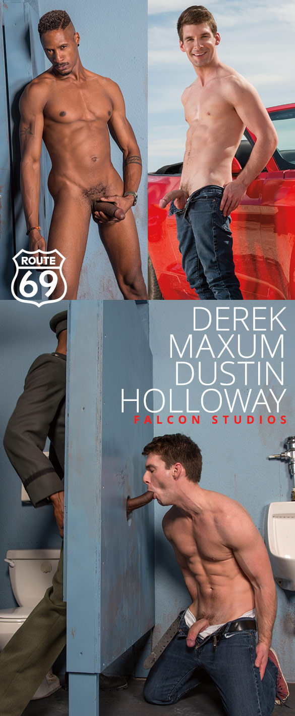 "Falcon Studios: Dustin Holloway and Derek Maxum service each other in ""Route 69"""