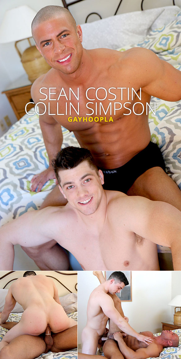 GayHoopla: Collin Simpson and Sean Costin's flip-flop muscle fuck