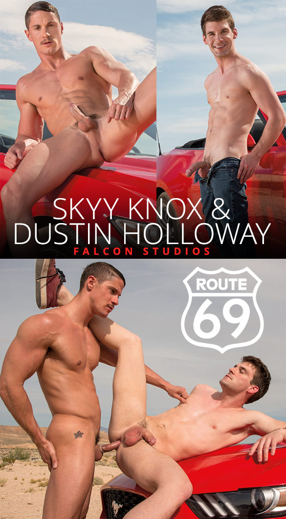 "Falcon Studios: Skyy Knox bangs Dustin Holloway in ""Route 69"""