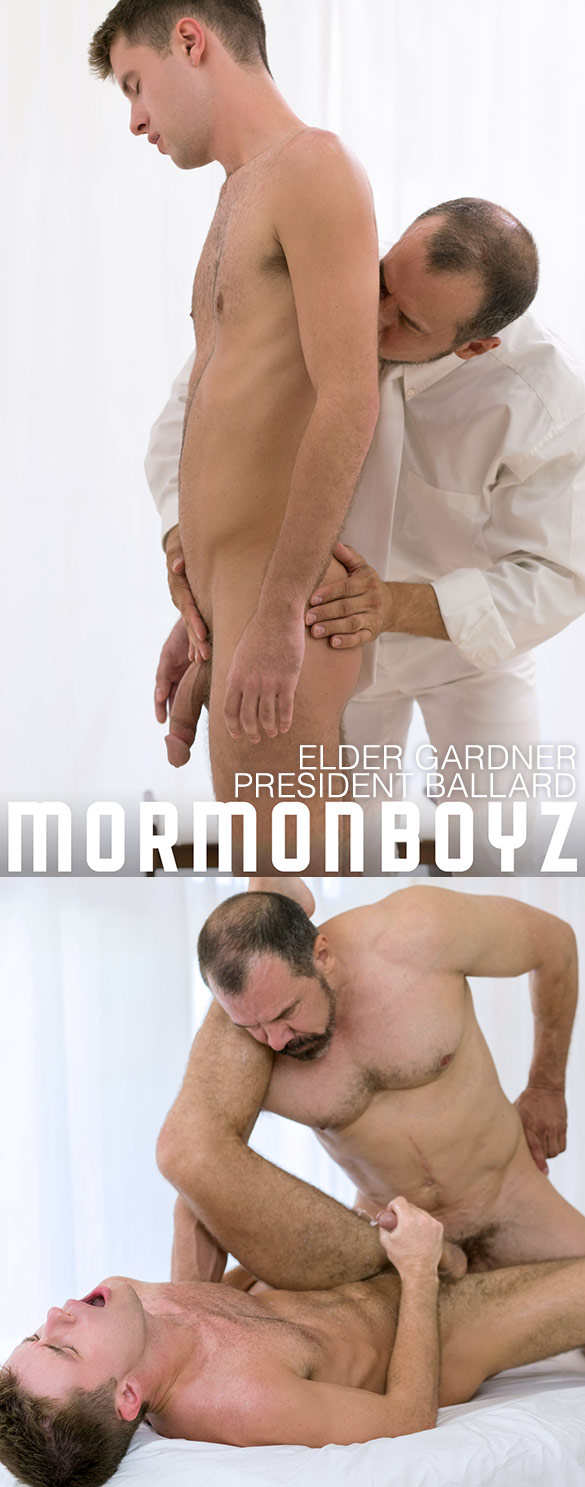 "MormonBoyz: Elder Gardner gets fucked raw by President Ballard in ""Initiation & Second Anointing"""