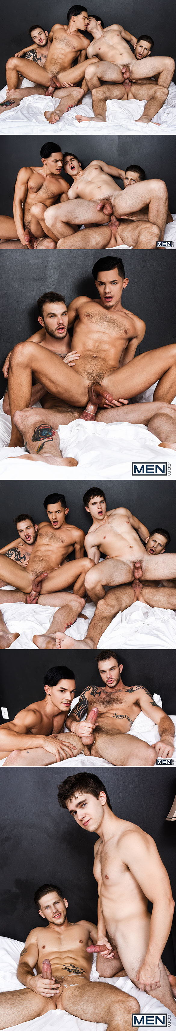 "Men.com: Cliff Jensen and Roman Todd fuck Will Braun and Ethan Slade in ""Fuck Me Silly, Part 3"""