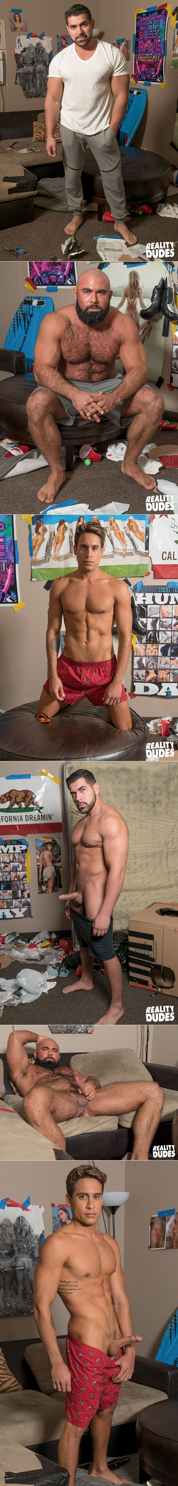 "Reality Dudes: Steven Roman and Damien Stone tag team Titus bareback in ""Playing Games"""