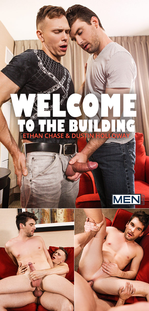 "Men.com: Ethan Chase fucks Dustin Holloway in ""Welcome to the Building"""