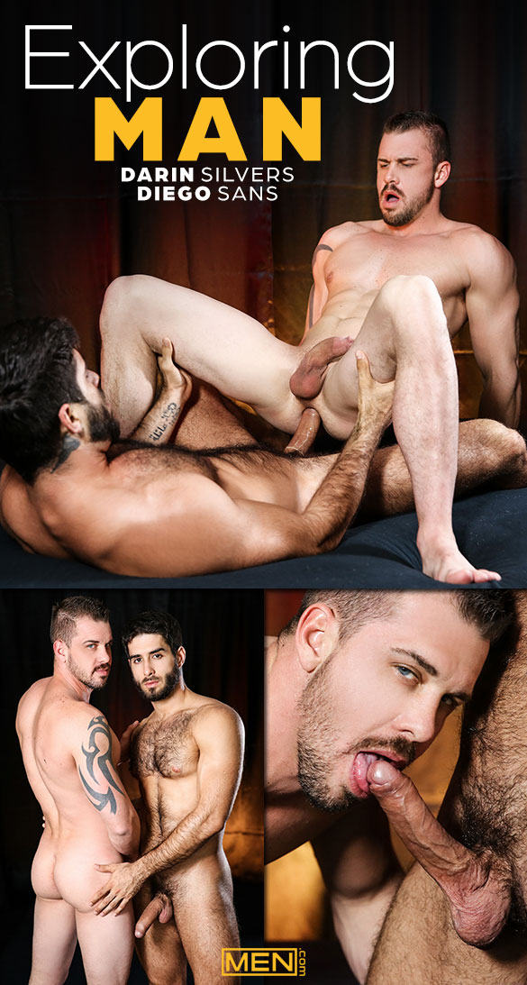 "Men.com: Diego Sans fucks Darin Silvers in ""Exploring: Man"""