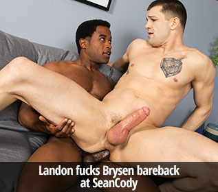 Landon fucks Brysen bareback at SeanCody