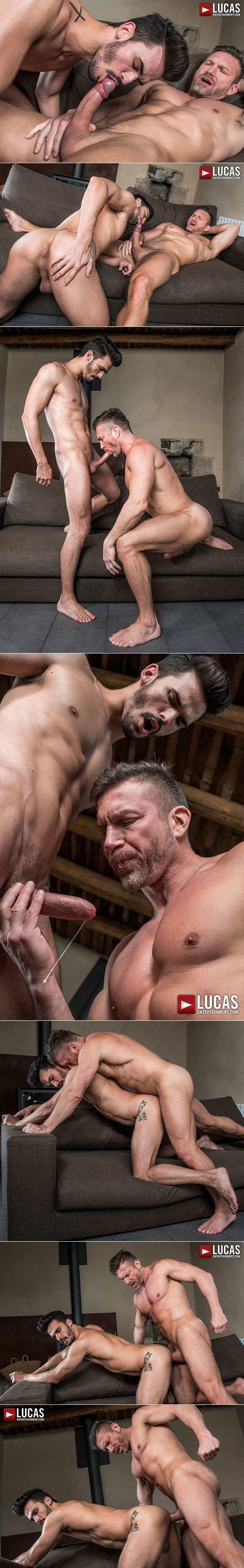 "Lucas Entertainment: Aaden Stark rides Tomas Brand's raw cock in ""Fag Fuckers"""