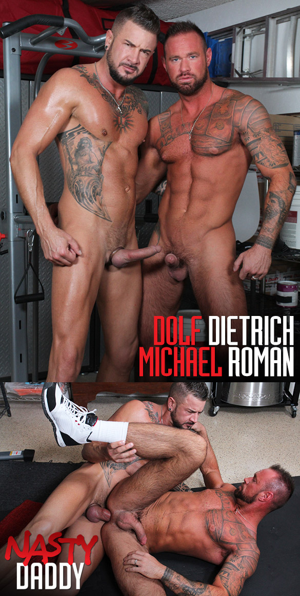 "Nasty Daddy: Dolf Dietrich creampies Michael Roman in ""Three Day Load"""