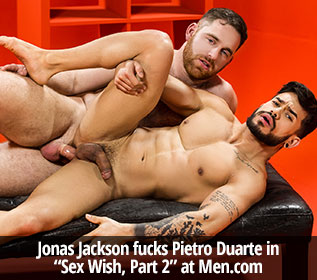 "Jonas Jackson fucks Pietro Duarte in ""Sex Wish, Part 2"" at Men.com"
