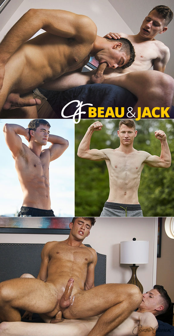 Corbin Fisher: Jack fucks the cum out of Beau