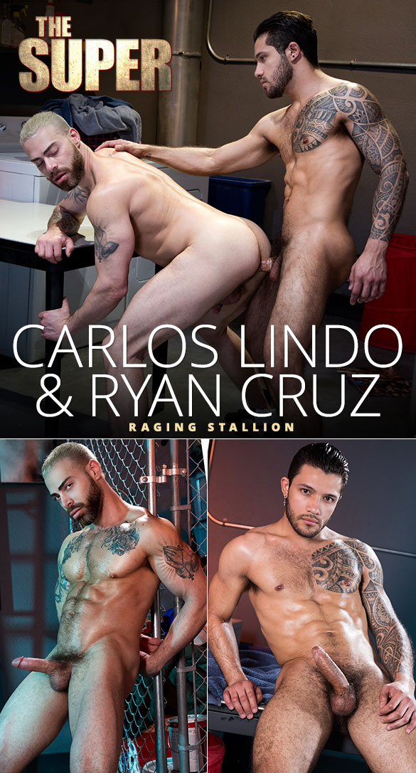 "Raging Stallion: Ryan Cruz fucks Carlos Lindo in ""The Super"""
