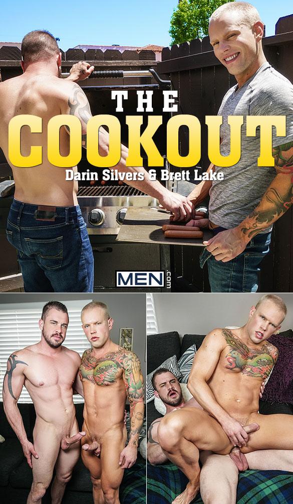 "Men.com: Darin Silvers fucks Brett Lake in ""The Cookout"""