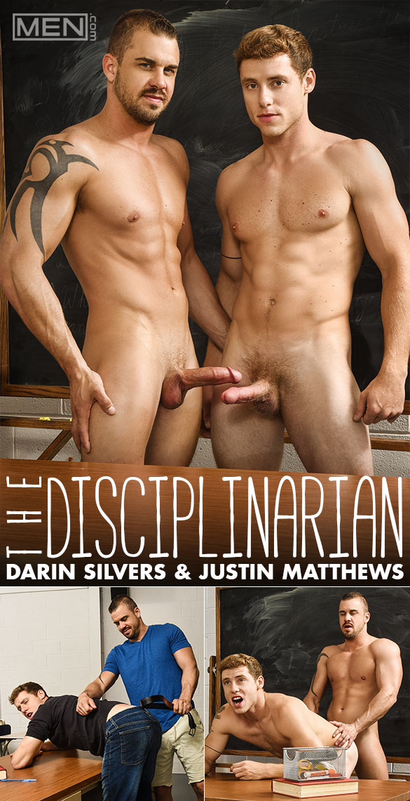 "Men.com: Darin Silvers spanks and fucks Justin Matthews in ""The Disciplinarian"""
