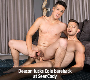 Deacon fucks Cole bareback at Sean Cody