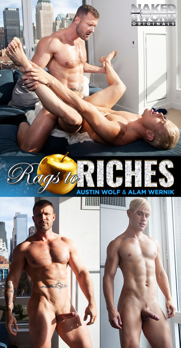 "NakedSword Originals: Austin Wolf fucks Alam Wernik in ""Rags to Riches, Episode 4: The A-List"""