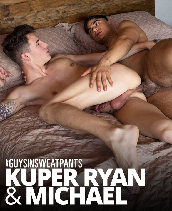 "Guys In Sweatpants: Michael fucks Kuper Ryan bareback in ""Fresh and Fucked"""