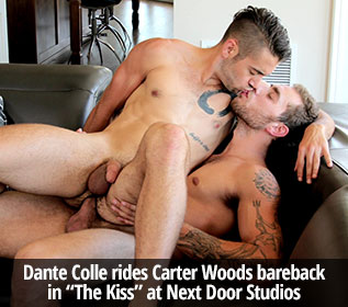 "Next Door Studios: Carter Woods fucks Dante Colle raw in ""The Kiss"""