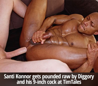 TimTales: Santi Konnor gets pounded raw by Diggory and his 9-inch cock