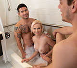 "WhyNotBi: Vadim Black, Michael DelRay and Astrid Star's bi bareback threeway in ""Bubble, Bubble, Boys and Trouble"""